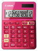 Калькулятор CANON LS-123K-MPK, розовый