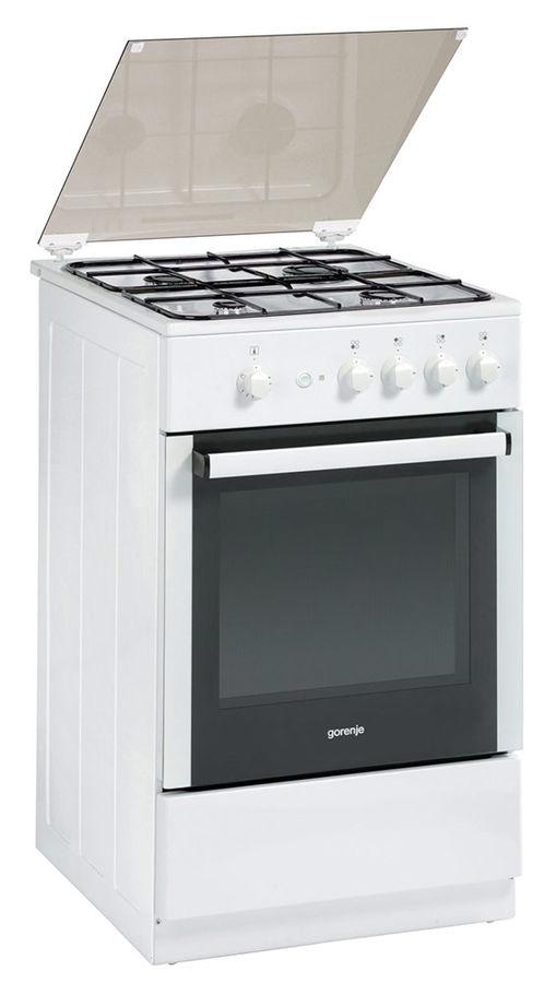 Газовая плита GORENJE GI52125AW,  газовая духовка,  белый