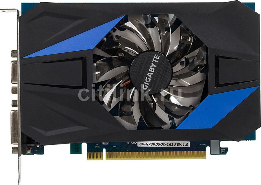 Видеокарта Gigabyte PCI-E GV-N730D5OC-1GI NV GT730 1024Mb 64b GDDR5 902/5000 DVIx1 (отремонтированный)