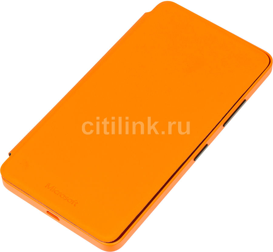 Чехол (флип-кейс) NOKIA CC-3089, для Microsoft Lumia 640, оранжевый [02744k4]