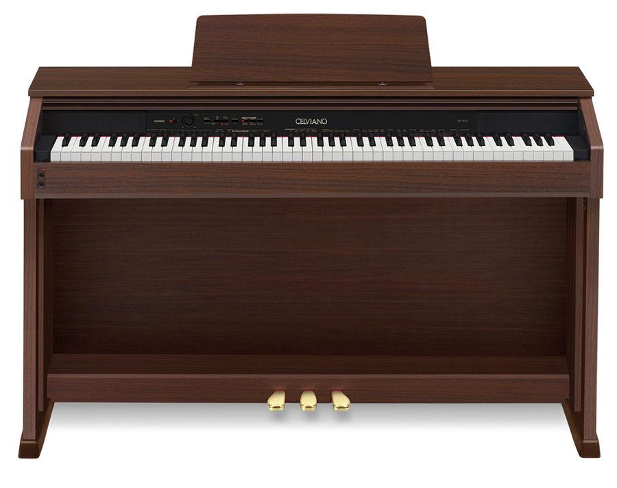 Цифровое фортепиано CELVIANO CASIO AP-460ВN, 88, полновзвешенная, полноразмерные, 256, коричневый [ap-460bn]
