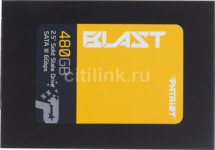 SSD накопитель PATRIOT Blast PBT480GS25SSDR 480Гб, 2.5