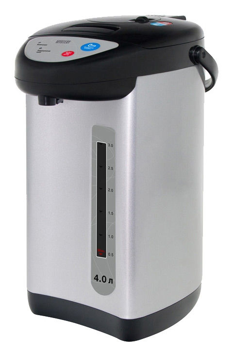 Термопот Mystery MTP-2452 4л. 700Вт черный/серебристый(Б/У)