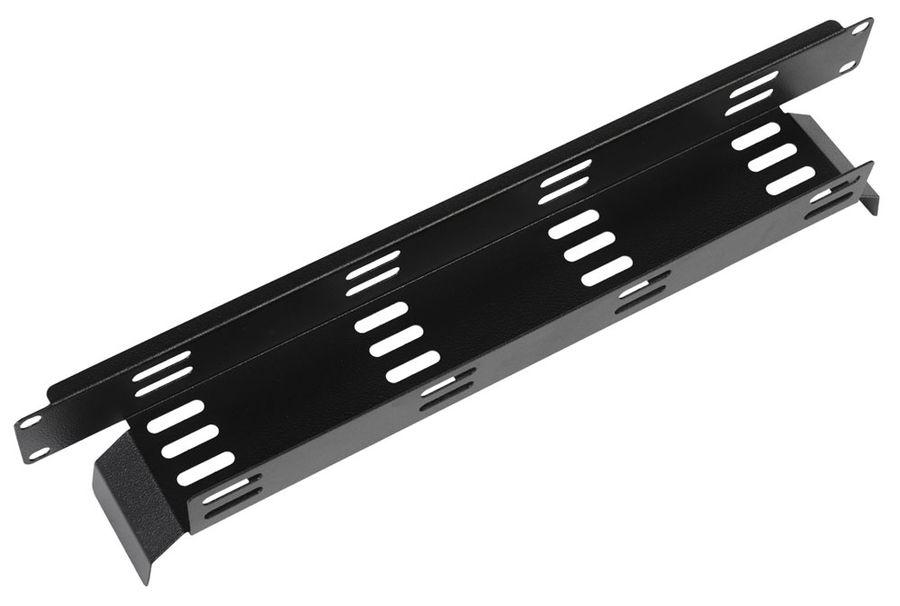 Кабельный органайзер Горизонтальный ЦМО (ГКО-Л-1-9005) односторонний пластиковый канал 2U шир.:19