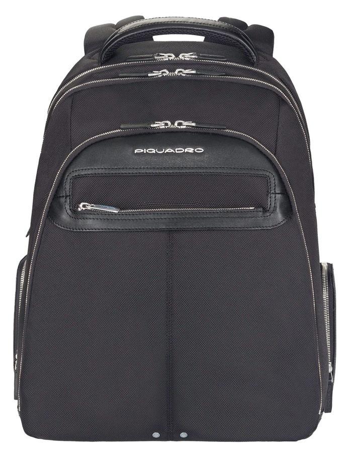 Рюкзак Piquadro Link CA1813LK/N черный натур.кожа/нейлон