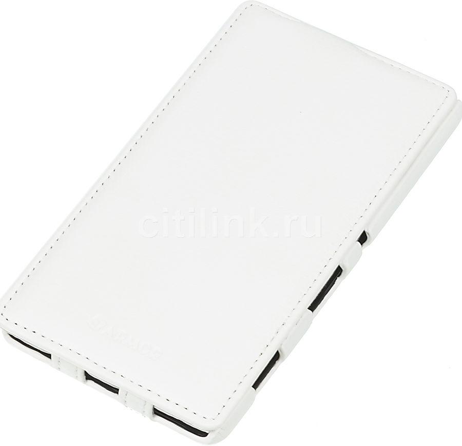 Чехол (флип-кейс) ARMOR-X flip full, для Sony Xperia C4, белый