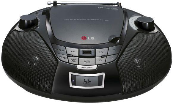 Аудиомагнитола LG SB19BT,  черный