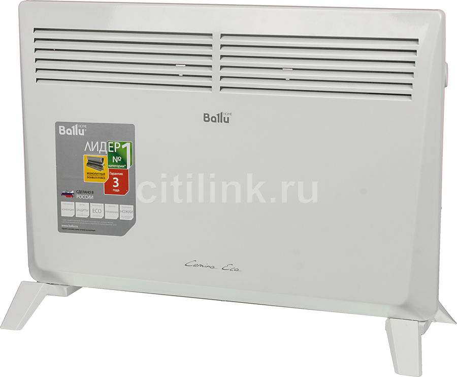 Конвектор BALLU Camino Eco BEC/EM-1500,  1500Вт,  белый [нс-1052246]