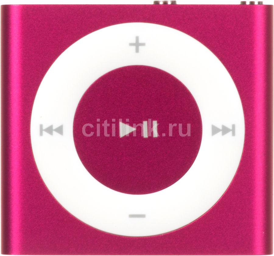 MP3 плеер APPLE iPod shuffle flash 2Гб розовый/белый [mkm72ru/a]