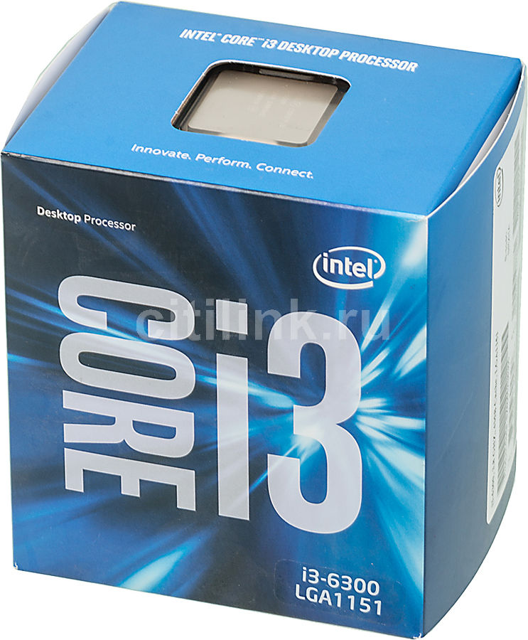 Процессор INTEL Core i3 6300, LGA 1151 * BOX [bx80662i36300 s r2ha]