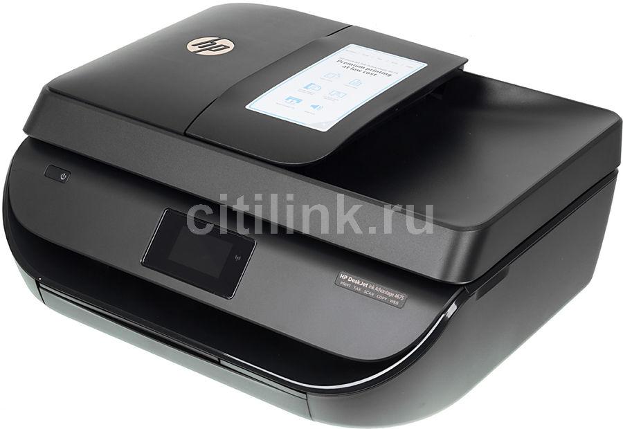 МФУ HP Deskjet Ink Advantage 4675 eAiO, A4, цветной, струйный, черный [f1h97c]