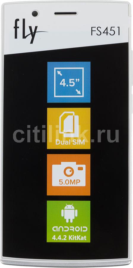 Смартфон FLY Nimbus 1 FS451  белый