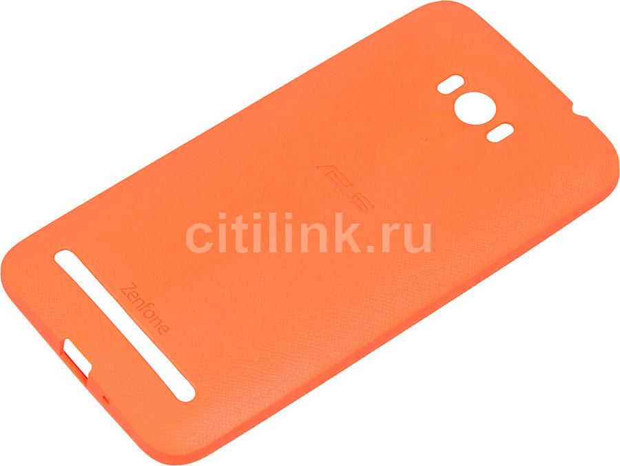Чехол (клип-кейс) ASUS PF-01, для Asus ZenFone Selfie ZD551KL, оранжевый [90xb00ra-bsl380]