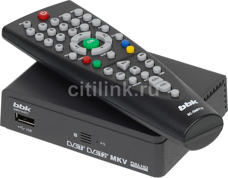 Ресивер DVB-T2 BBK SMP014HDT2,  темно-серый
