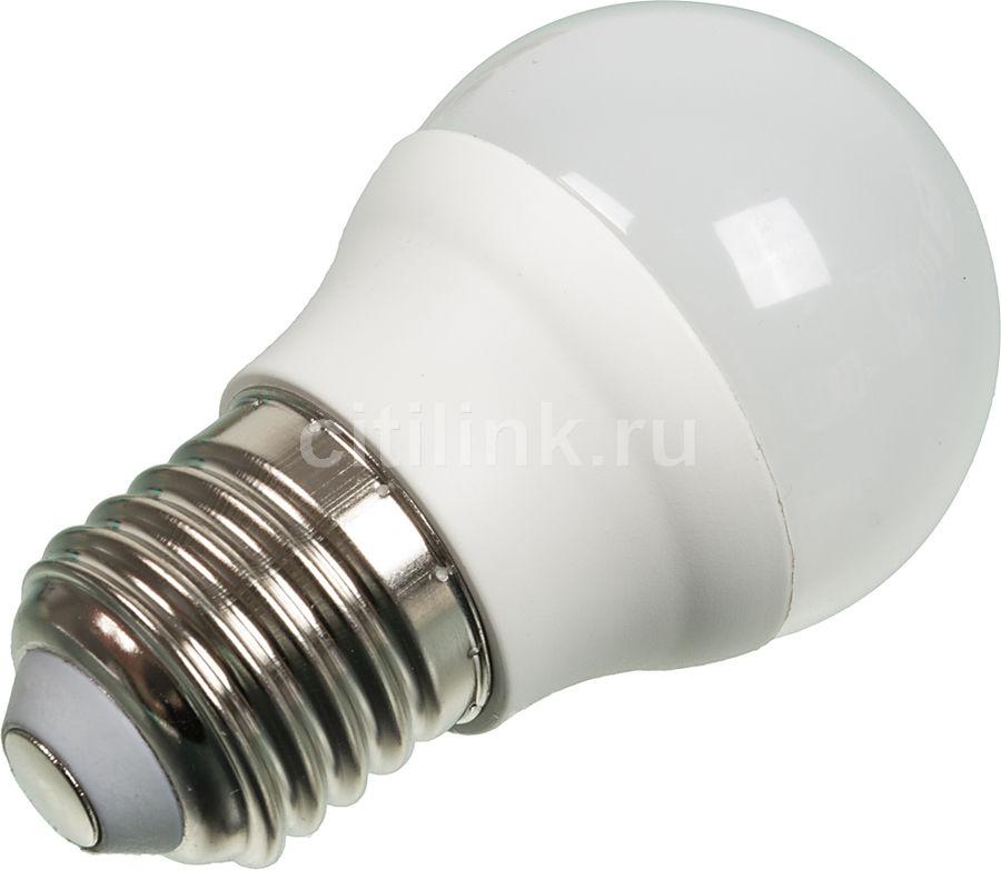 Лампа ЭРА P45-5w-840-E27, 5Вт, 420lm, 30000ч,  4000К, E27,  1 шт. [б0017220]