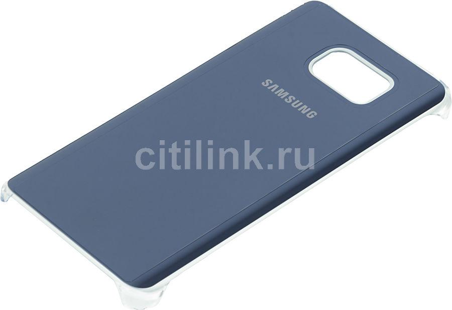 Чехол (клип-кейс) SAMSUNG Glossy Cover, для Samsung Galaxy Note 5, темно-синий [ef-qn920mbegru]