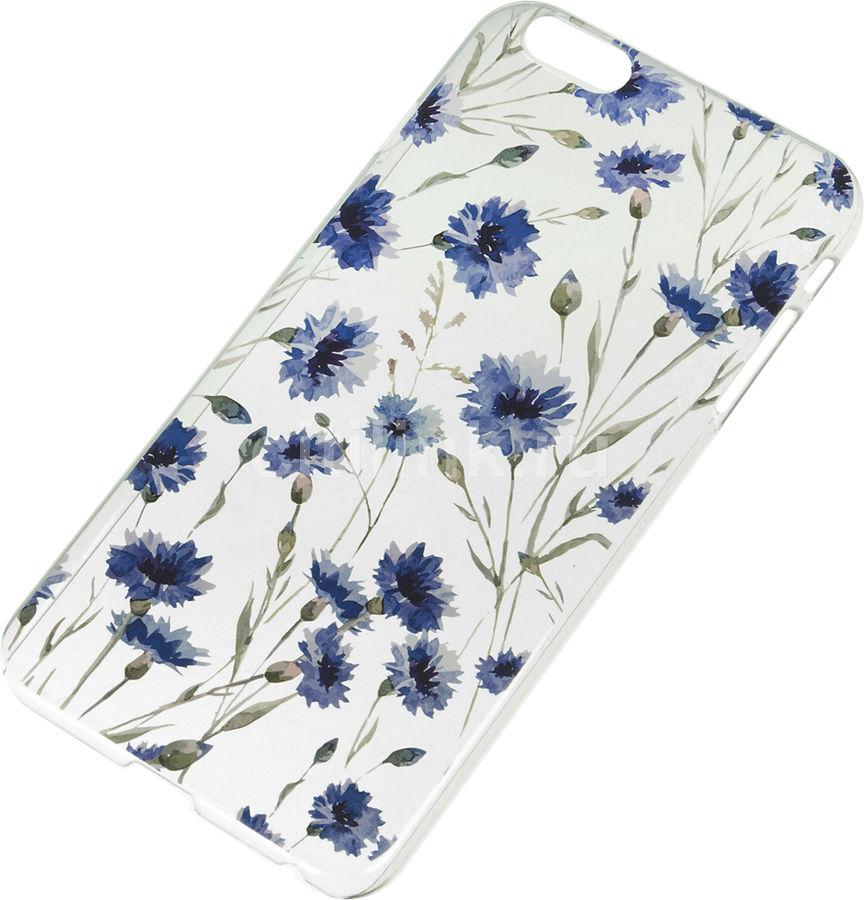 Чехол (клип-кейс) DEPPA Art Case Flowers Василек, для Apple iPhone 6 Plus/6S Plus, прозрачный [100104]