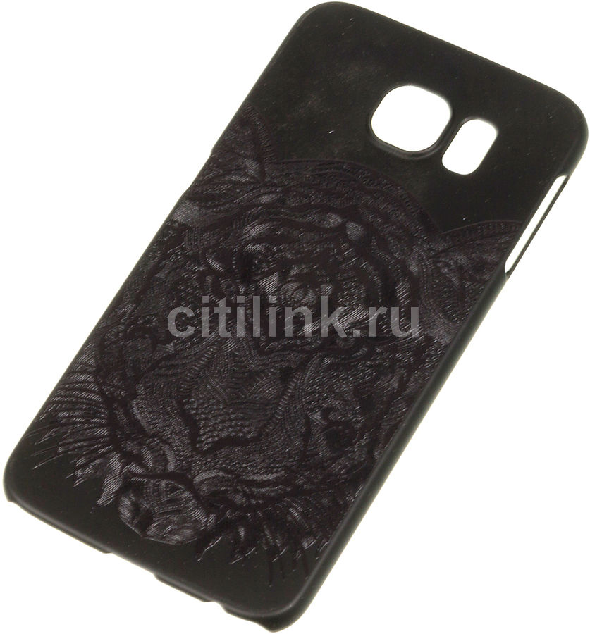 Чехол (клип-кейс) DEPPA Art Case, Black Тигр, для Samsung Galaxy S6, черный [100274]