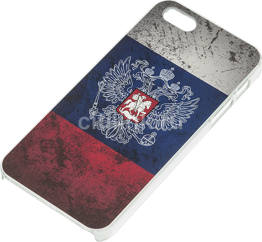 Чехол (клип-кейс) DEPPA Art Case, Патриот Флаг, для Apple iPhone 5/5s, синий [100307]