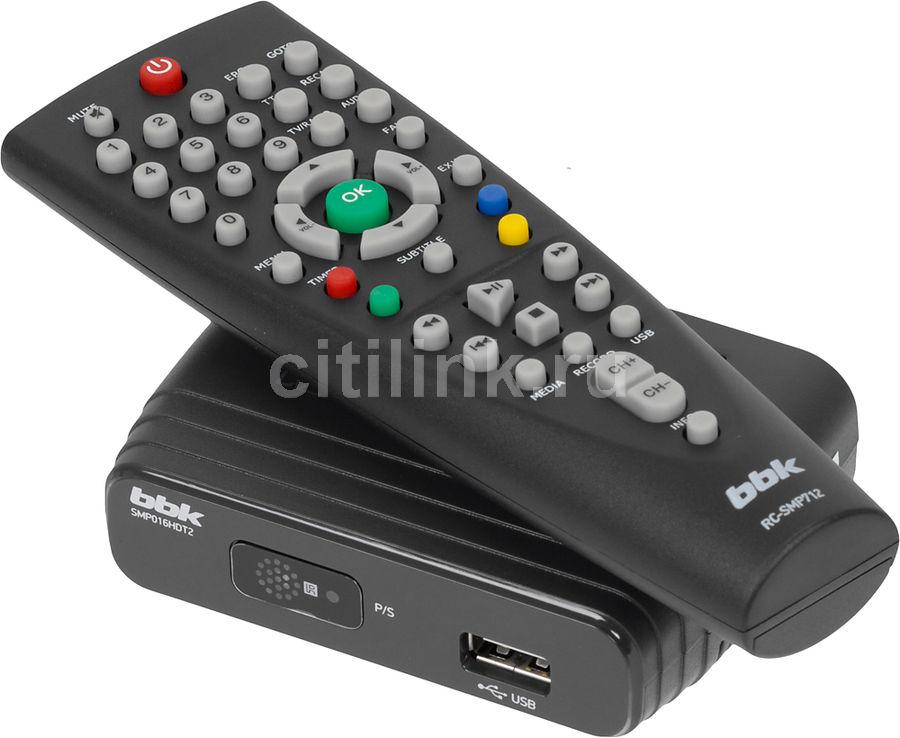 Ресивер DVB-T2 BBK SMP016HDT2,  темно-серый