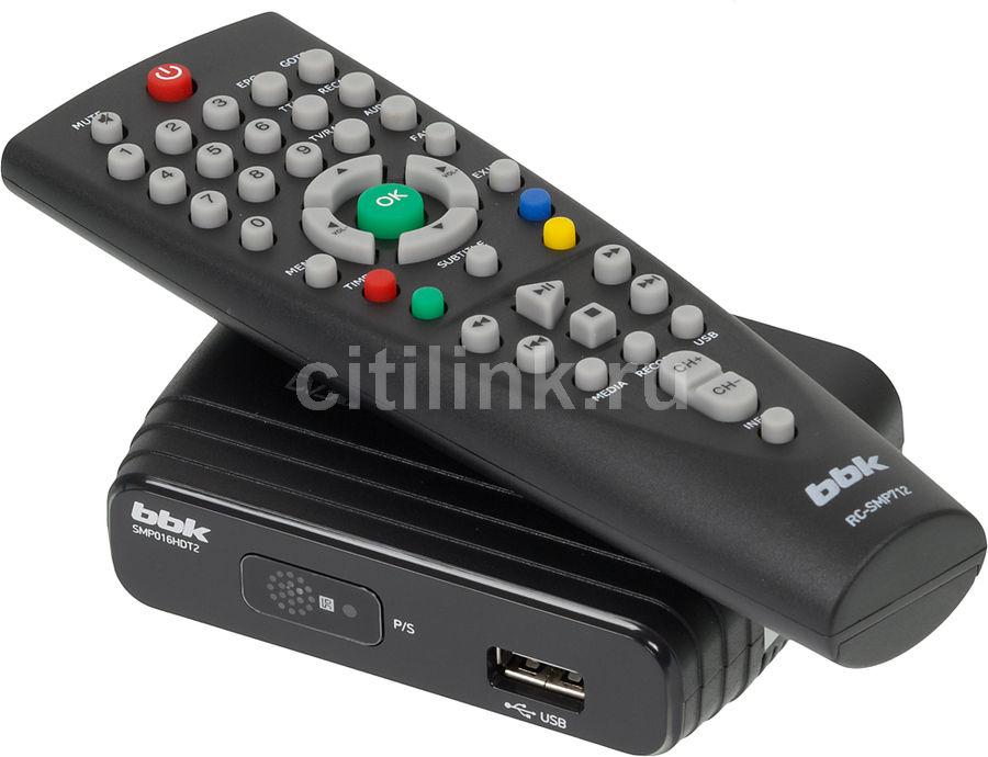 Ресивер DVB-T2 BBK SMP016HDT2,  черный