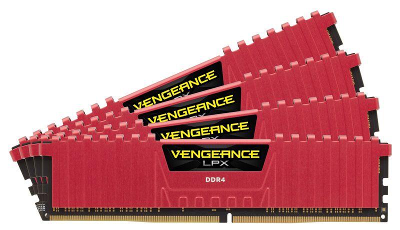 Модуль памяти CORSAIR Vengeance LPX CMK16GX4M4B3000C15R DDR4 -  4x 4Гб 3000, DIMM,  Ret