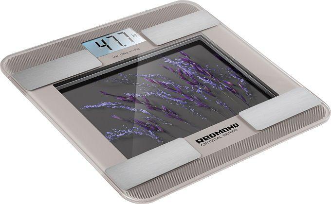 Напольные весы REDMOND RS-730, до 180кг, цвет: серый