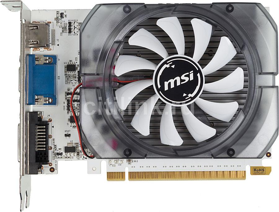 Видеокарта MSI GeForce GT 730,  N730K-2GD5/OCV1,  2Гб, GDDR5, OC,  Ret