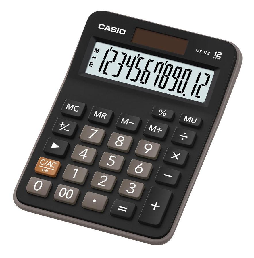 Калькулятор CASIO MX-12B,  12-разрядный, черный