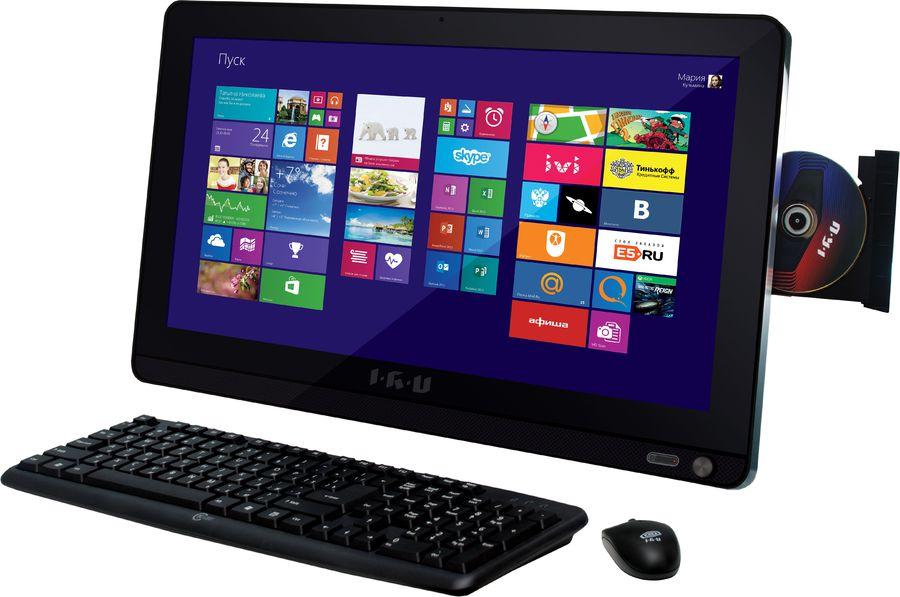Моноблок IRU Office L1901, Intel Celeron N2840, 4Гб, 500Гб, Intel HD Graphics, DVD-RW, Windows 8.1, черный [339536]
