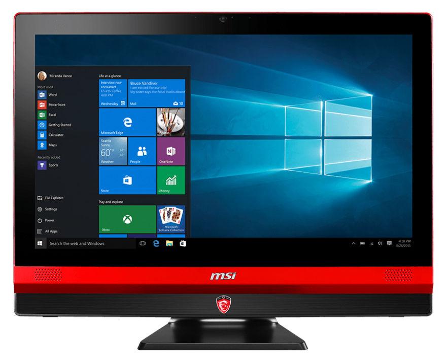 Моноблок MSI Gaming 24T 6QE-009RU, Intel Core i7 6700HQ, 8Гб, 1000Гб, 128Гб SSD,  nVIDIA GeForce GTX 960M - 4096 Мб, DVD-RW, Windows 10, черный и красный [9s6-aea111-009]
