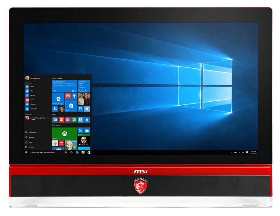 Моноблок MSI Gaming 27 6QD-011RU, Intel Core i7 6700, 8Гб, 1000Гб, 256Гб SSD,  nVIDIA GeForce GTX 970M - 6144 Мб, DVD-RW, Windows 10, черный и красный [9s6-af1c11-011]