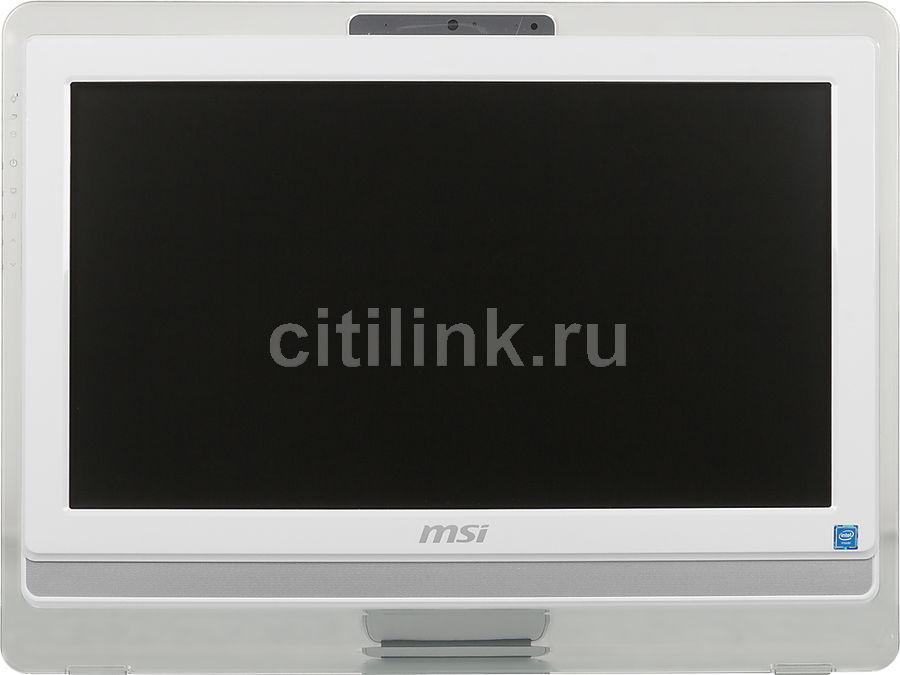 Моноблок MSI Pro 20ET 4BW-015RU, Intel Celeron N3150, 4Гб, 500Гб, Intel HD Graphics, DVD-RW, Windows 10 Home, белый [9s6-aa8b12-015]