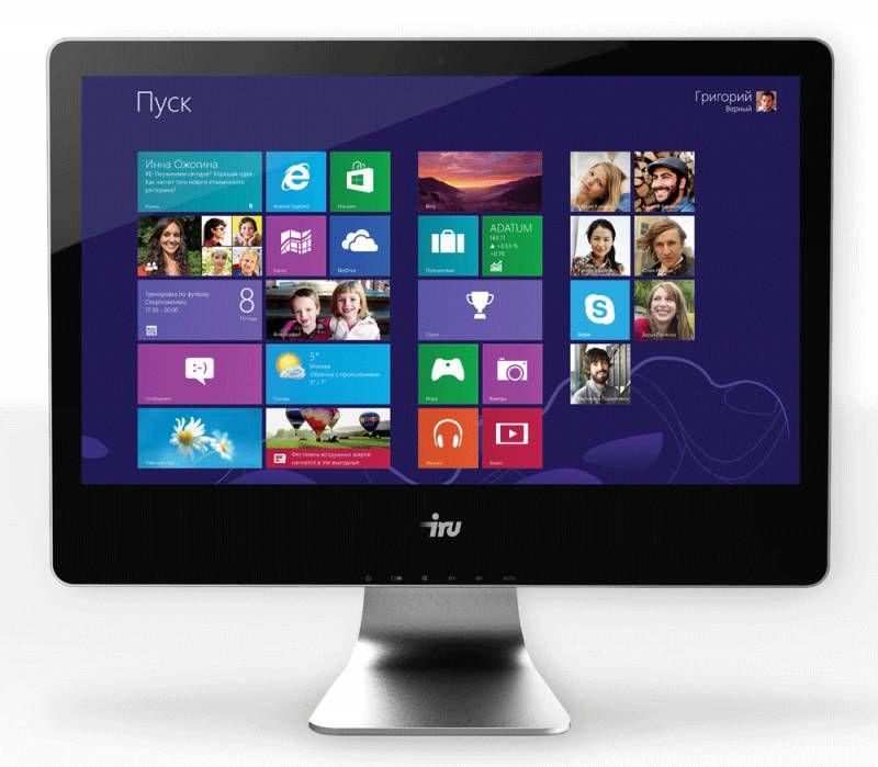 Моноблок IRU Office T2112, Intel Core i3 4170, 4Гб, 500Гб, Intel HD Graphics 4400, DVD-RW, noOS, черный [339875]