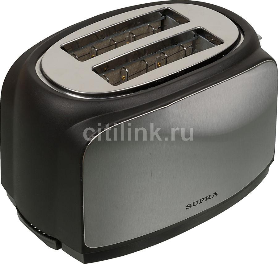 Тостер SUPRA TTS-217,  черный/серебристый [6986]