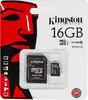 Карта памяти microSDHC UHS-I KINGSTON 16 ГБ