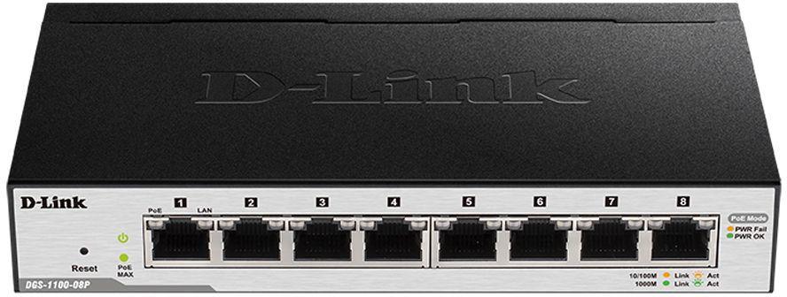 Коммутатор D-LINK DGS-1100-08P/B