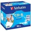 Оптический диск CD-R VERBATIM 700Мб 52x, 10шт., jewel case, printable [43325] вид 1