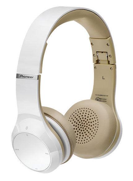 Наушники PIONEER SE-MJ771BT-W, накладные,  белый, беспроводные bluetooth
