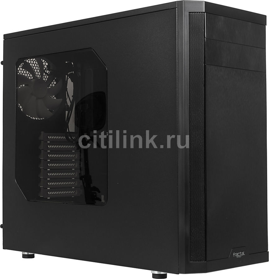 Корпус E-ATX FRACTAL DESIGN Core 3500 Window, Midi-Tower, без БП,  черный