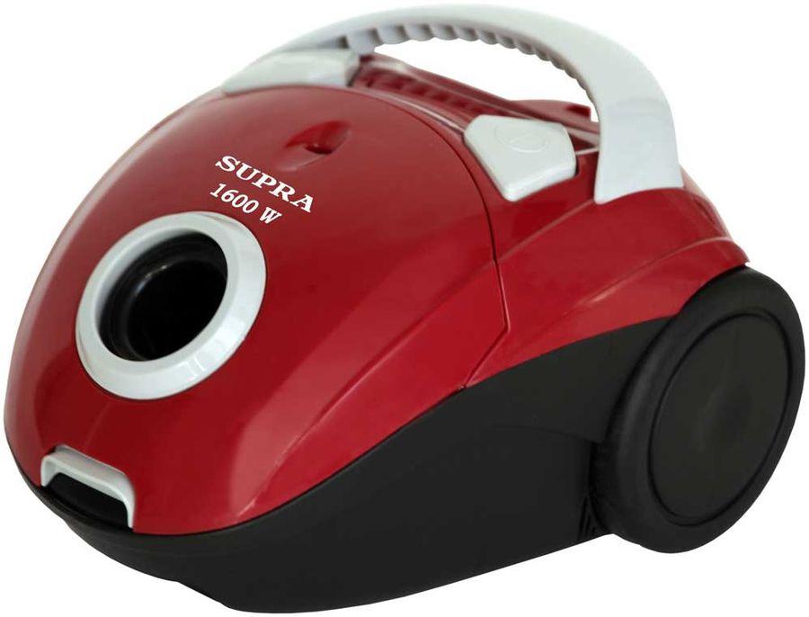 Пылесос SUPRA VCS-1601, 1600Вт, красный/черный