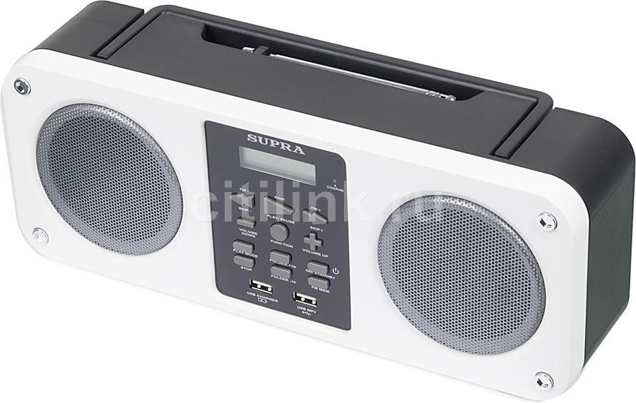 Аудиомагнитола Supra BB-M102UB белый 6Вт/MP3/FM(dig)/USB/BT (отремонтированный)