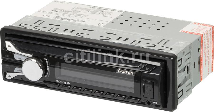 Автомагнитола ROLSEN RCR-251R,  USB,  SD/MMC