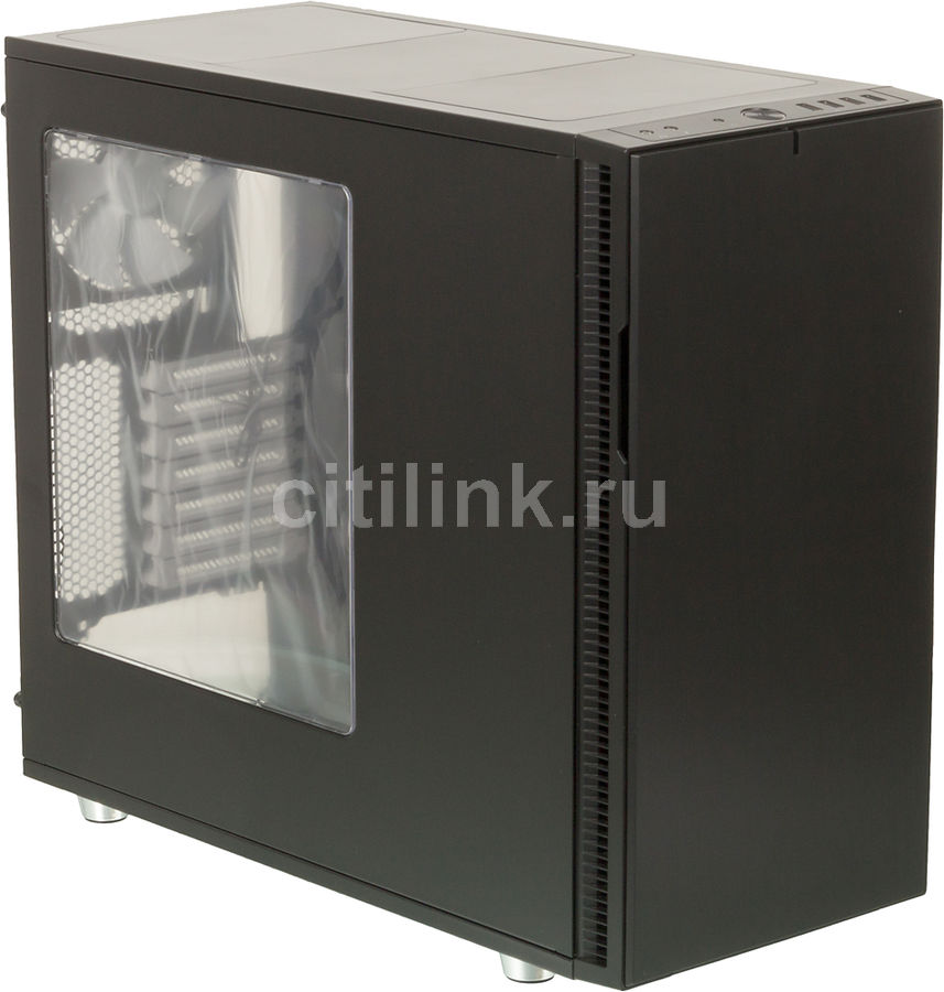 Корпус ATX FRACTAL DESIGN Define R5 Window, Midi-Tower, без БП,  черный
