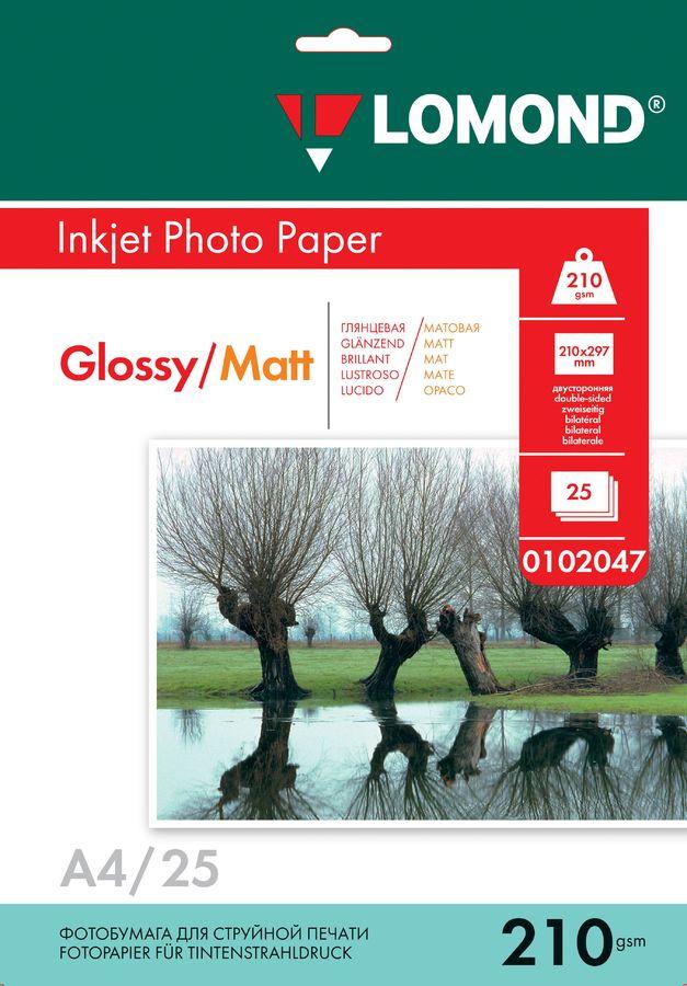 Фотобумага Lomond 0102047 A4/210г/м2/25л./белый глянцевое/матовое для струйной печати