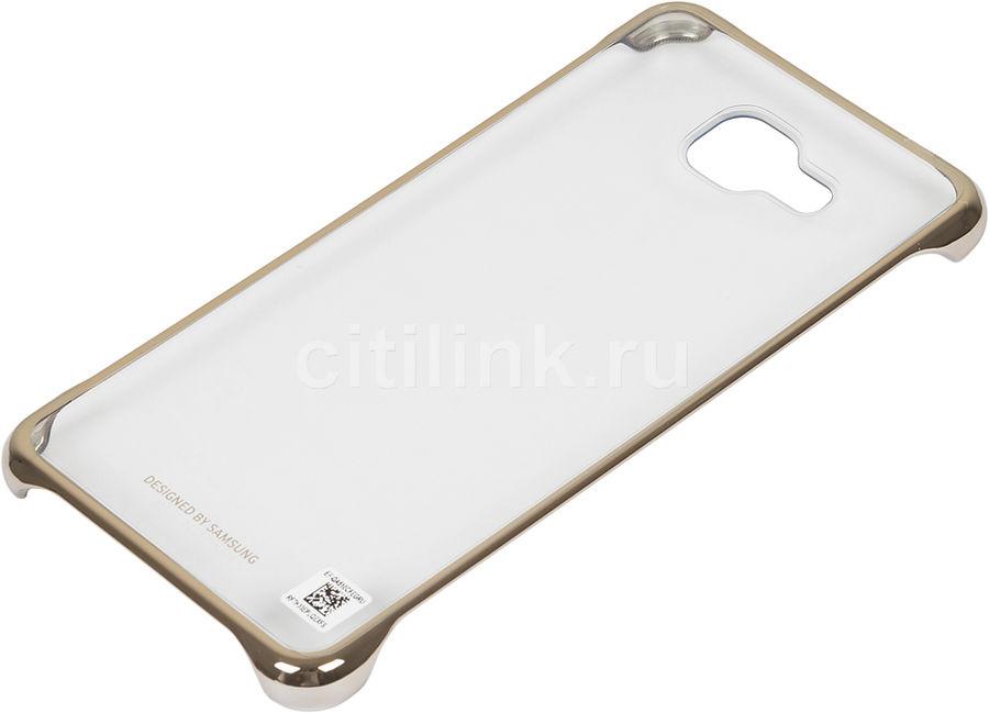Чехол (клип-кейс) SAMSUNG Clear Cover, для Samsung Galaxy A5 (2016), золотистый [ef-qa510cfegru]