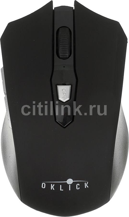 Мышь OKLICK 555MW оптическая беспроводная USB, черный [sh-690]