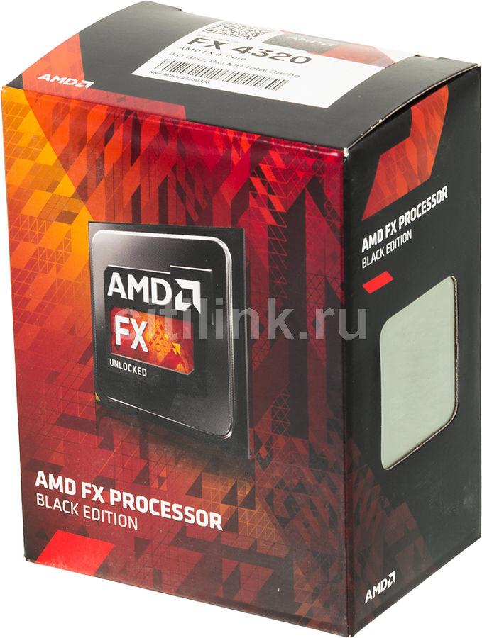 Процессор AMD FX 4320, SocketAM3+ BOX [fd4320wmhkbox]