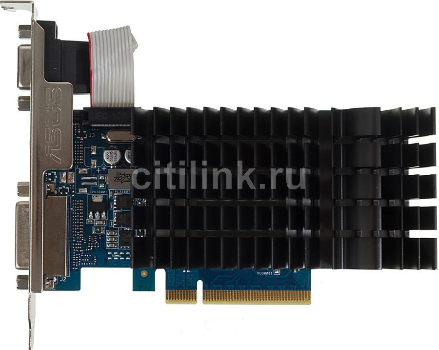 Видеокарта ASUS GeForce GT 710,  GT 710-2-SL,  2Гб, DDR3, Low Profile,  Ret