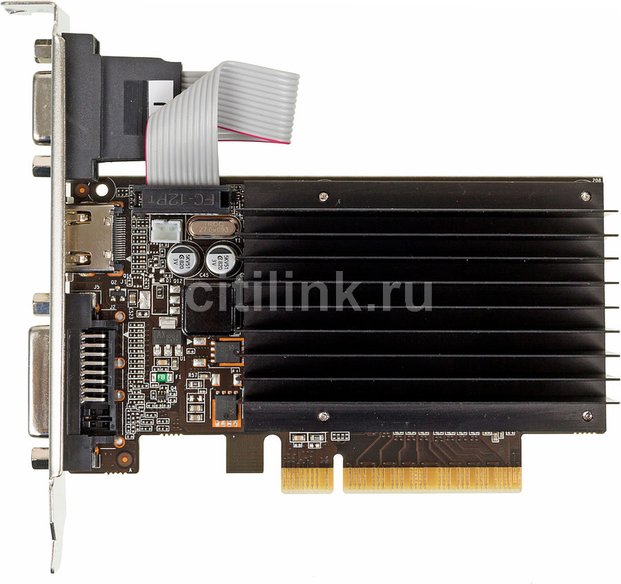 Видеокарта PALIT GeForce GT 710,  PA-GT710-1GD3H,  1Гб, DDR3, Low Profile,  oem [neat7100hd06-2080h bulk]